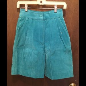 Turquoise Suede Walking Shorts by CHIA NWT Size 6
